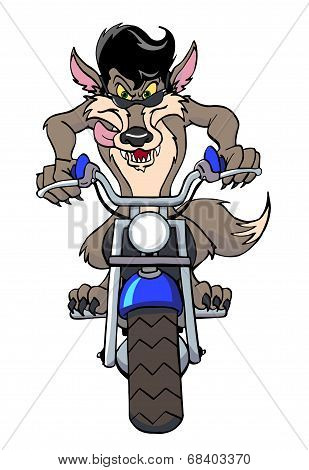 Motorcycle Wolf