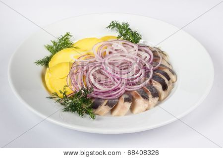 Potato And Onion With  Herring