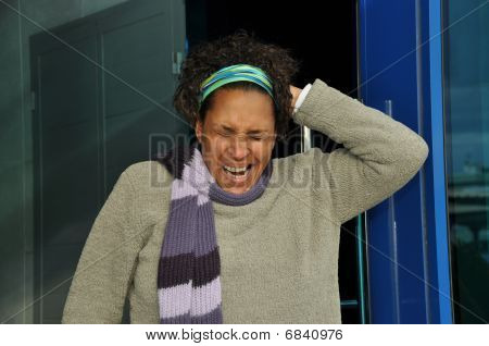 African American Woman Tired
