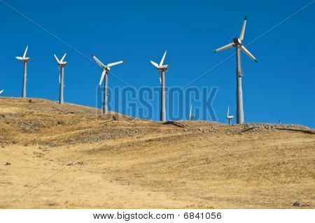 Miles of Wind Turbines
