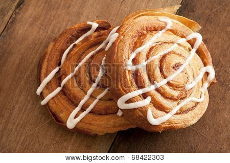 Freshly Baked Flaky Danish Pastries