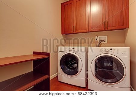 Small Laundry Room With Modern Appliances