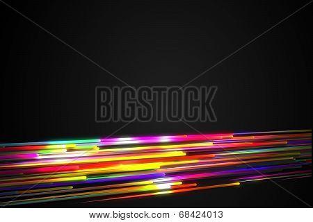 Bottom Rainbow straight Diagonal Line Glow Dark Background