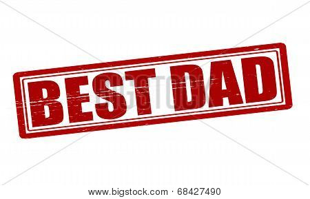 Stamp with text best dad inside vector illustration poster