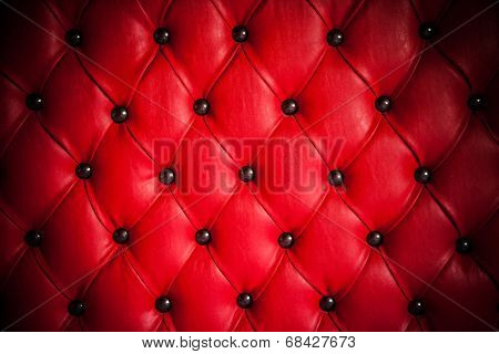 Detail of leather upholstery