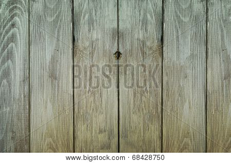 Background texture of grungy old weathered wood plank fencing. poster