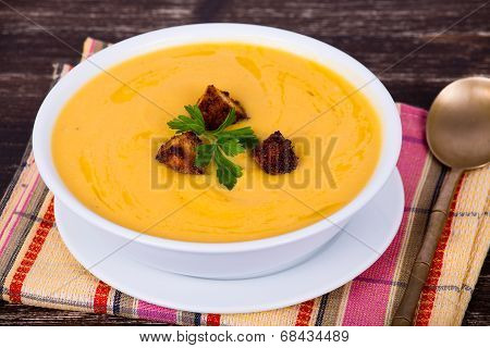 Apple Pumpkin Cream Soup