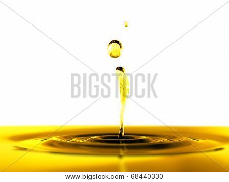 Oil Drop On White Background