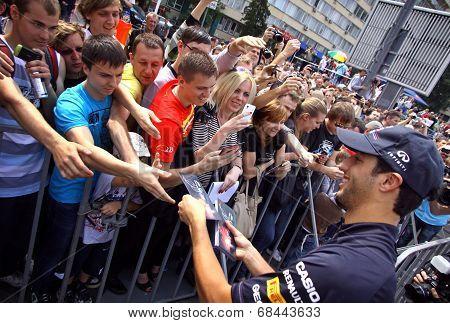 Formula 1 Driver Daniel Ricciardo Of Red Bull Racing Team