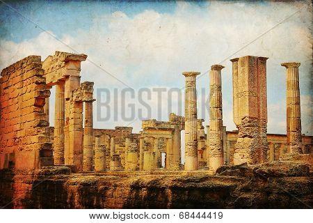 The Gymnasium greek in Cyrene Libya, Africa poster