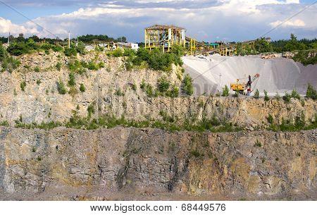 Stonecutter In A Granite Quarry