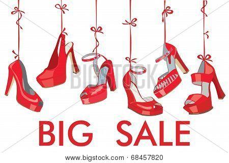 Red Fashion Women's  Shoes Hang On Ribbon.big Sale