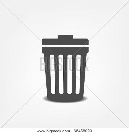 Trash can flat icon