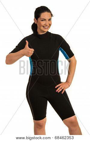 Successful Surfer Woman