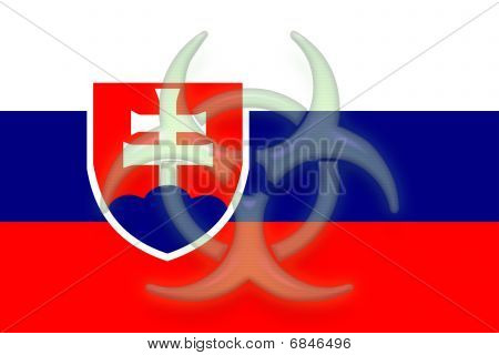 Flag Of Slovakia Health Warning