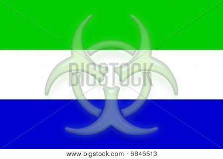 Flag Of Sierra Leone Health Warning