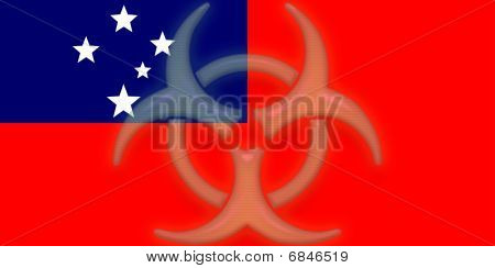 Flag Of Samoa Health Warning