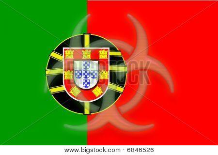 Flag Of Portugal Health Warning