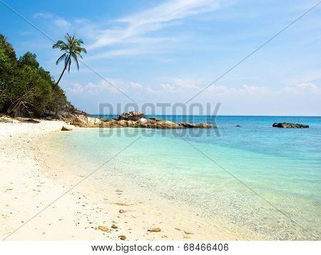 Deserted Beach at Perhentian Island, Malaysia