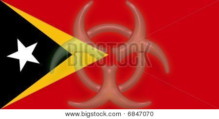 Flag Of Timor-leste Health Warning