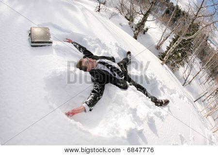 snow businessman