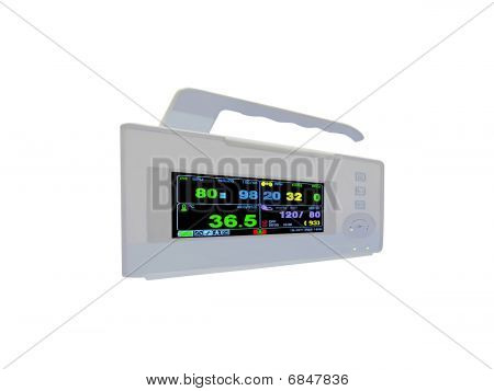 New Colorful Cardiovascular Portable Monitor, Doppler Display, Isolated