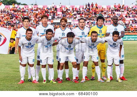 Sisaket Thailand-july 13: Players Of Tot S.c. Pose For A Team Picture Prior To Thai Premier League B