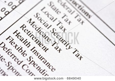 Paycheck Deductions