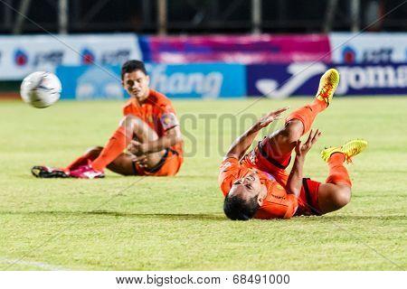 Sisaket Thailand-july 13: Ekkapan Jandakorn Of Sisaket Fc. In Action During Thai Premier League Betw