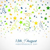 15th of August, Indian Independence Day celebrations greeting card design.  poster