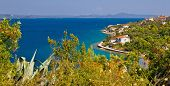 Croatian island Iz panoramic view in Dalmatia poster