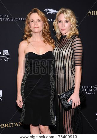 LOS ANGELES - OCT 30:  Lea Thompson & Madelyn Deutch arrives to the BAFTA Jaguar Brittannia Awards 2014 on October 30, 2014 in Beverly Hills, CA