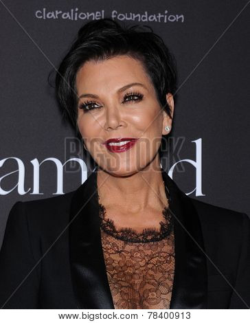 LOS ANGELES - DEC 11:  Kris Jenner arrives to the The First Annual Diamond Ball on December 11, 2014 in Beverly Hills, CA