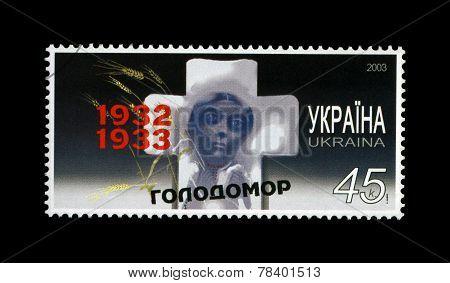 Ukraine - Circa 2003: Cancelled Stamp Printed In Ukraine Shows Famine Of 1932-33 In Ukraine, 2003