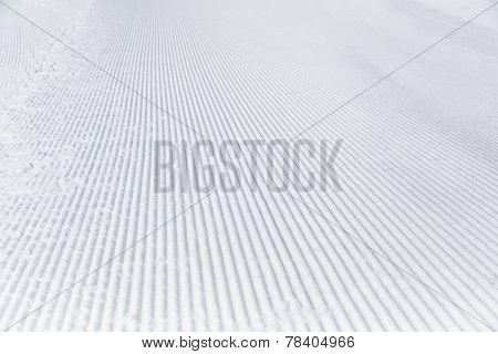 Prepared snowcat track