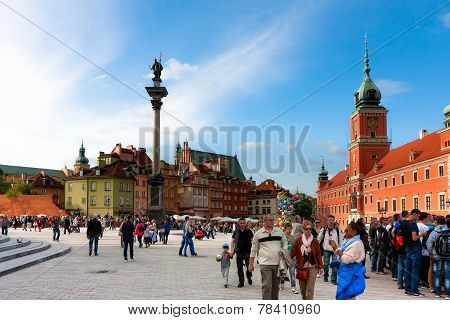 Warsaw City, Castle Square And Sigismund's Column