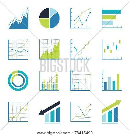 Set statistics icon. Graphic analysis and asset management. Information chart profits. Business efficiency and investment. finance data poster