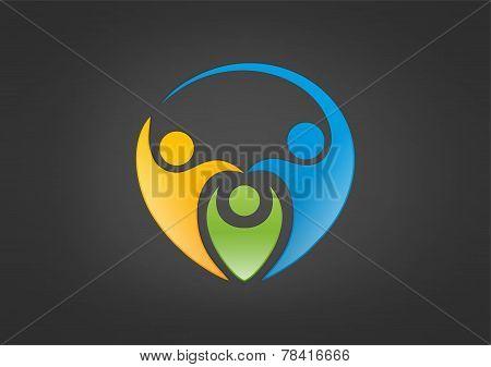 Healthy family logo