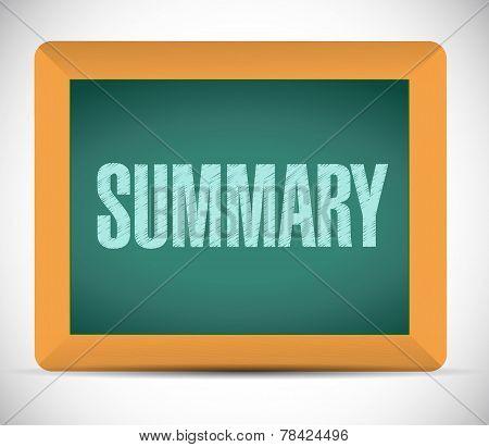 Summary Board Sign Illustration Design