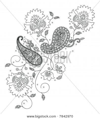 Kashmir henna design fashion.