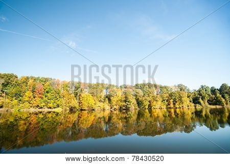 Connecticut River, morning calm and fall colors