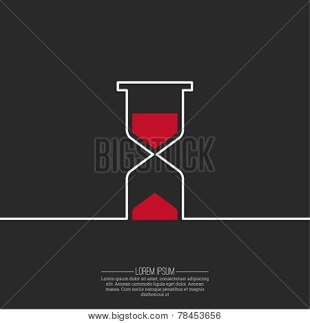 Abstract background with an hourglass.
