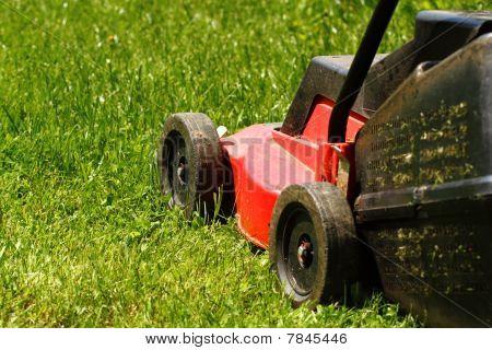 Lawnmower On Grass