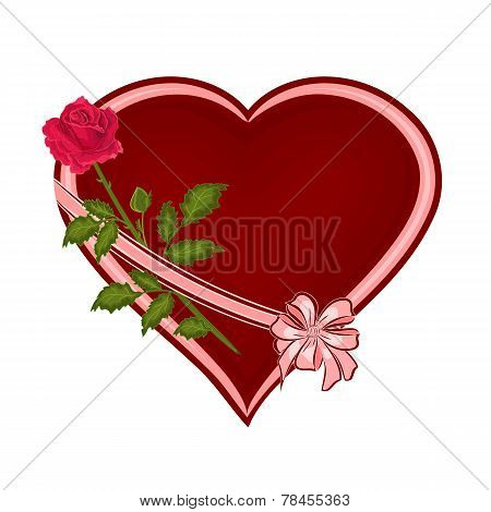Valentines Day Hearts With Roses Vector