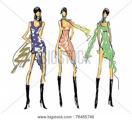 Sketch Fashion Poses