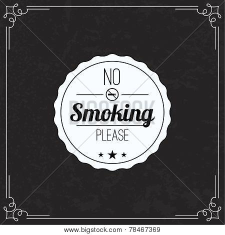 Please no smoking label.