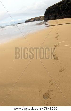 Ballybunion Beach Horse Hoofprints