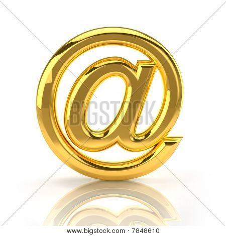 Golden email sign
