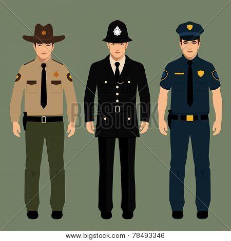 policeman and sheriff