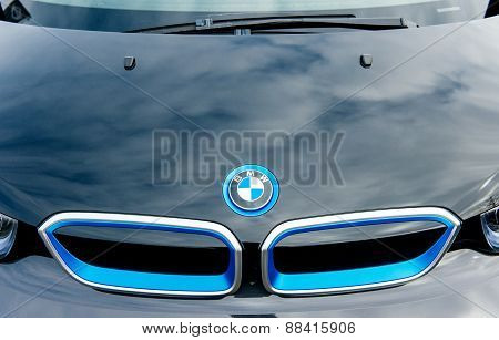 Bmw Electric Car Front Radiator Logo